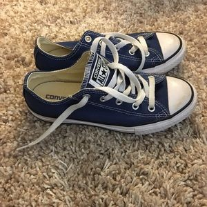 Shoes - Blue Converse Youth size 2 Unisex